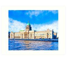 The Classic Custom House - Dublin Ireland Art Print