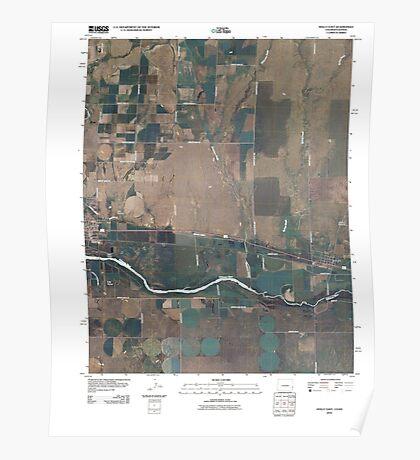 USGS TOPO Map Colorado CO Holly East 20100807 TM Poster