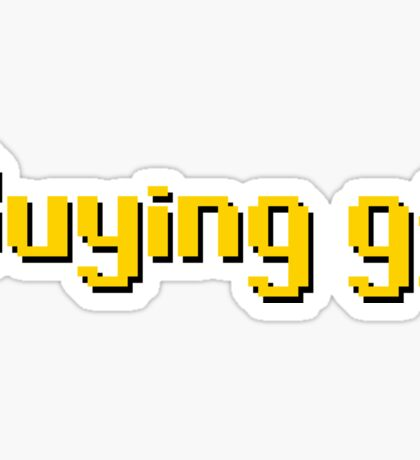 Buying gf, Old RuneScape Font Design Sticker