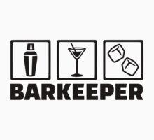 Barkeeper bartender by Designzz