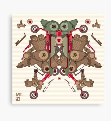 Vector Abstract robot character Canvas Print
