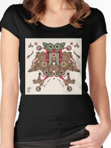 Vector Abstract robot character Women's Fitted Scoop T-Shirt