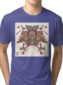 Vector Abstract robot character Tri-blend T-Shirt