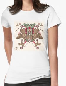 Vector Abstract robot character Womens Fitted T-Shirt