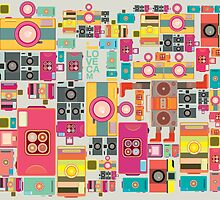 VIntage camera pattern wallpaper design by singpentinkhepi