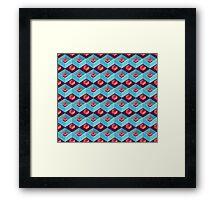 geometric pattern in aztec style Framed Print