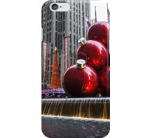 A Christmas Card from New York City – Radio City Music Hall and the Giant Red Balls iPhone Case/Skin