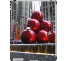 A Christmas Card from New York City – Radio City Music Hall and the Giant Red Balls iPad Case/Skin