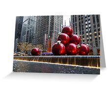 A Christmas Card from New York City – Radio City Music Hall and the Giant Red Balls Greeting Card