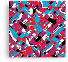 random blocks wave pattern Canvas Print