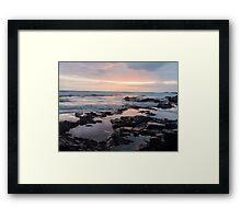 Sunrise at Rockpools Framed Print