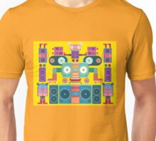 funny and cute vector boombox face pattern Unisex T-Shirt