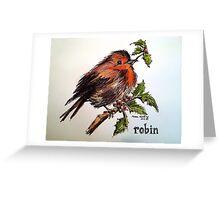 Christmas Robin. Elizabeth Moore Golding© Greeting Card