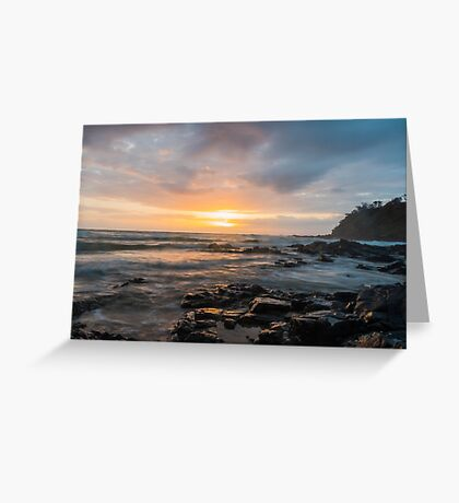 Sunrise at Coolum Beach Greeting Card