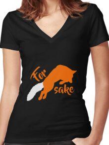 For FOX sake Women's Fitted V-Neck T-Shirt