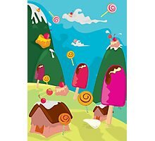 ice cream and candy land Photographic Print