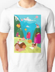 ice cream and candy land Unisex T-Shirt