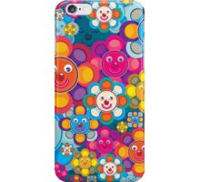 fun flower colorful pattern iPhone Case/Skin
