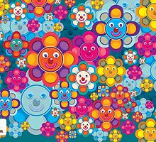 fun flower colorful pattern by singpentinkhepi