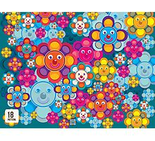 fun flower colorful pattern Photographic Print