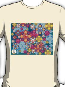 fun flower colorful pattern T-Shirt