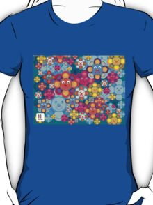 fun flower colorful pattern T-Shirt
