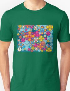 fun flower colorful pattern Unisex T-Shirt