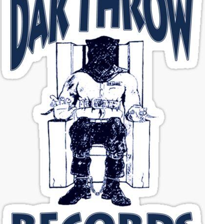 Dak Throw Records Sticker