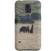 Big Dad & Floe in the paddock, 'Arilka' Adelaide Hills. S.A. Samsung Galaxy Case/Skin