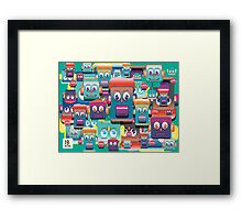 pattern face expression colorful Framed Print