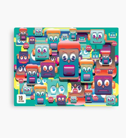 pattern face expression colorful Canvas Print