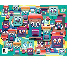 pattern face expression colorful Photographic Print