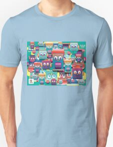 pattern face expression colorful Unisex T-Shirt
