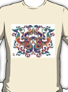 symmetrical vector colorful pattern T-Shirt