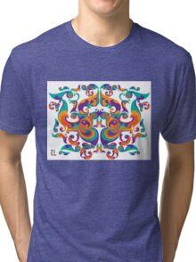 symmetrical vector colorful pattern Tri-blend T-Shirt