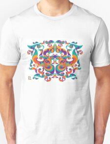 symmetrical vector colorful pattern Unisex T-Shirt