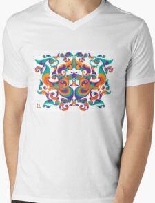 symmetrical vector colorful pattern Mens V-Neck T-Shirt