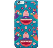Cute colorful bird pattern vector iPhone Case/Skin