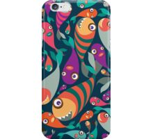 Beautiful collection of tropical fish pattern  iPhone Case/Skin