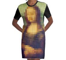 Mona Lisa Graphic T-Shirt Dress