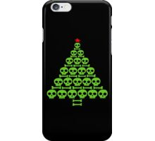 Green Skull and Bones Christmas Tree  iPhone Case/Skin