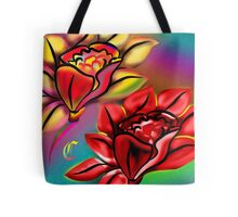 Caribbean Wedding Flowers Roses in Bright Vibrant Colors Tote Bag