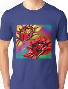 Caribbean Wedding Flowers Roses in Bright Vibrant Colors Unisex T-Shirt
