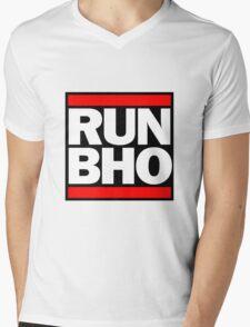 Run BHO Mens V-Neck T-Shirt