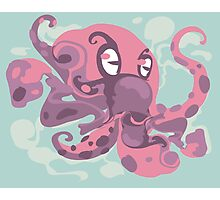 Cute octopus monster Photographic Print