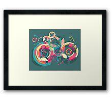 Vector colorful broken circle pattern Framed Print