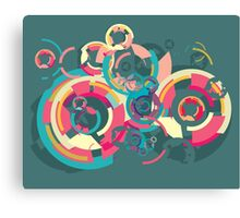 Vector colorful broken circle pattern Canvas Print