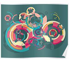 Vector colorful broken circle pattern Poster