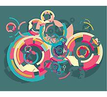 Vector colorful broken circle pattern Photographic Print
