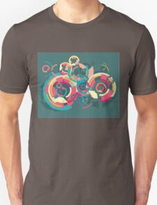 Vector colorful broken circle pattern T-Shirt
